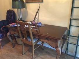 handsome solid wood desk