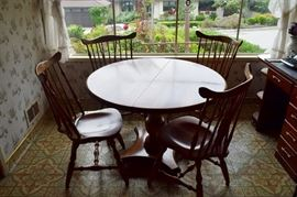 Hard rock maple dining table and chairs