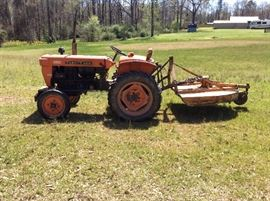 Kubota L-210 tractor with bush hog attachment - selling as one    THIS HAS SOLD!!