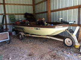 Trophy Bass boat with trailer