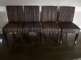 4 SEAGRASS pottery barn chairs