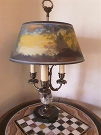 Pairpoint reverse painting lamp