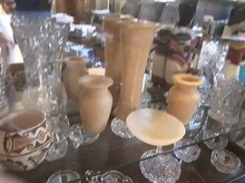Alabaster Egyptian  vases