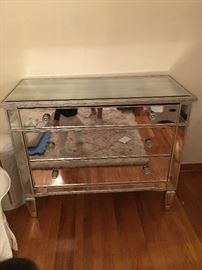 mirrored side chest $1000