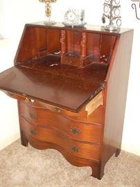 Desk shown in open position