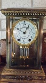 Antique Seth Thomas- Solid Brass with Porcelain Dial