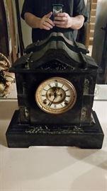 Marble Ansonia Open Escapement Clock