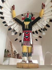 Beautiful Kachina Doll  41 inches ht. 3 foot wing span