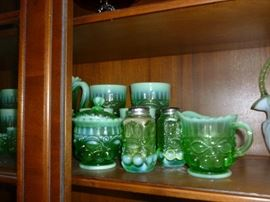 Beautiful green opalescent glass!