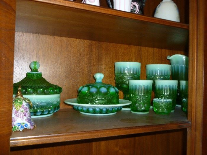 More beautiful green opalescent glass