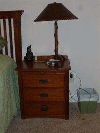 One of 2 nightstands