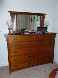 Large dresser & mirror