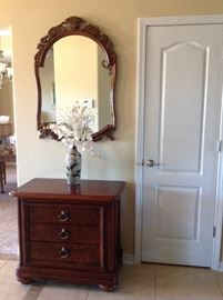 Thomasville silver chest & mirror