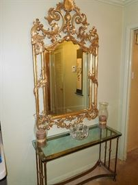 One of several ornate mirrors