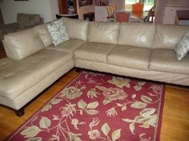 SECTIONAL, AREA RUG