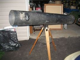 vintage 1958 scientific telescope