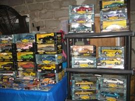 look what we found while unpacking! many many die-cast cars