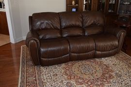 Custom Leather Dual Electric Recliner.  7 Feet Long. Very Comfortable