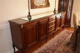"Unique Antique Buffet/Server. 104"" Wide X 20"" Deep X 40"" Tall. Excellent Condition. Lots of Storage"