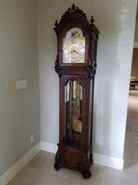 Grandfather Colonial Brand Clock. Pre-Sale on this beauty. $1500. Call if interested.  Our expert says this is one of the finest floor clocks.