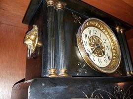 Smith Thomas Clock with Lion Sides