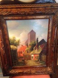 Original oil beautifully framed