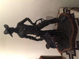 "Daro Flood ""Cowman"" Bronze Sculpture"