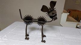 Funny metal art!  Goofy dog.