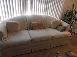 Hamilton House Furniture Silk Brocade Sofa