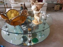 Ormolu Filigree Jewelry Bowl, Cupids