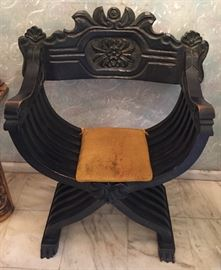 FABULOUS WOOD CHAIR, GOTHIC RENAISSANCE REVIVAL STYLE THRONE ARM CHAIR