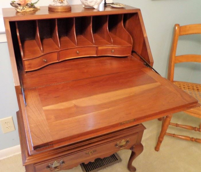 Taylor Solid Cherry 4 Drawer Desk