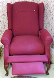 Red Upholstered Recliner