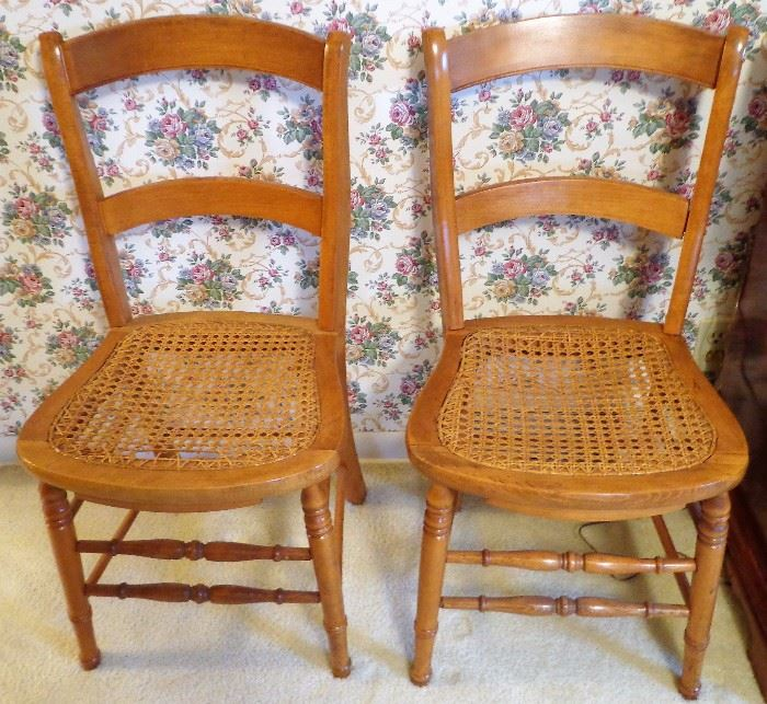 Matching Caned Chairs