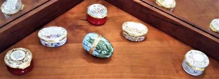 Enameled Pill Boxes