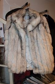 Silver fox fur jacket.