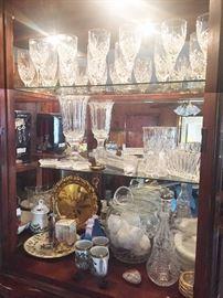 Crystal stemware and vases