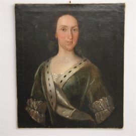 18th Century Portrait, Oil on Canvas