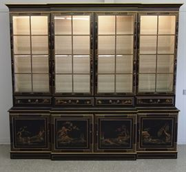 "Chinoiserie Breakfront with Writing Drawer (81 1/2"" x 90"")"