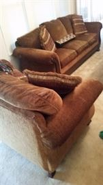Newer Ethan Allen Sofa and Matching Love Seat