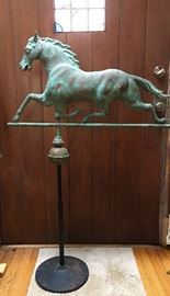 Antique weathervane with beautiful verdigris patina