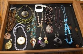 Lots of Beautiful Jewelry from which to choose: necklaces, earrings, bracelets ( including charm bracelets )  brooches and more!
