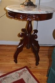 another Absolutely Gorgeous Highly Carved Round Marble Topped Table