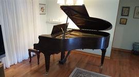 Mason & Hamlin Model T Baby Grand Piano. Available for purchase now.