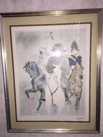 "Toulouse Lautrec ""Napoleon"" color lithograph, signed and numbered"