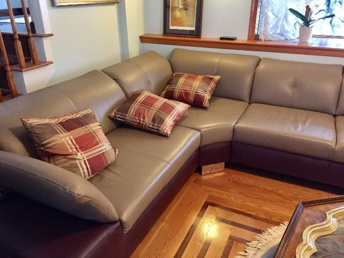 Leather sectional in impeccable condition!