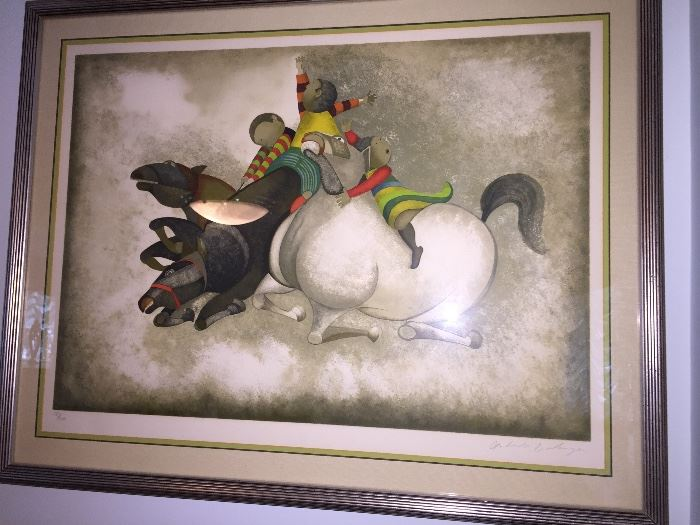 "Graciela Rodo Boulanger ""Trois Chevaux"", signed and numbered"
