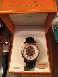 Stuhrling Men's Watch, Skeleton Automatic