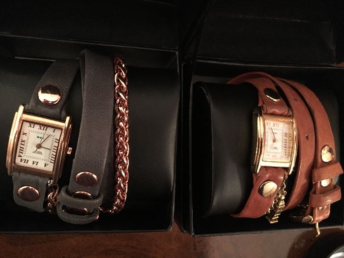La Mer Ladies Watches  with wrap around leather bands
