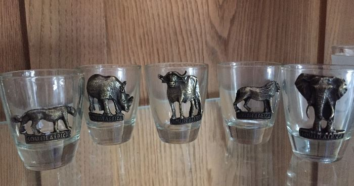 Shot glasses from Africa